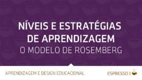 Níveis e estratégias de aprendizagem – O modelo de Rosenberg